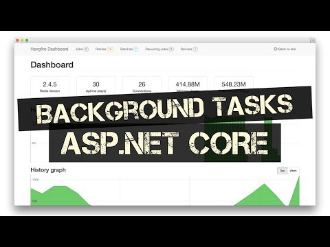Running Background Tasks in ASP.NET Core (HANGFIRE)