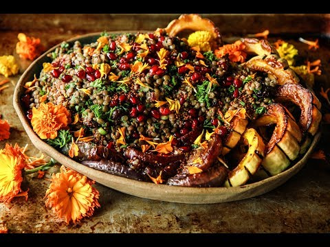 warm-lentil-salad-with-roasted-delicata-squash-and-red-onions