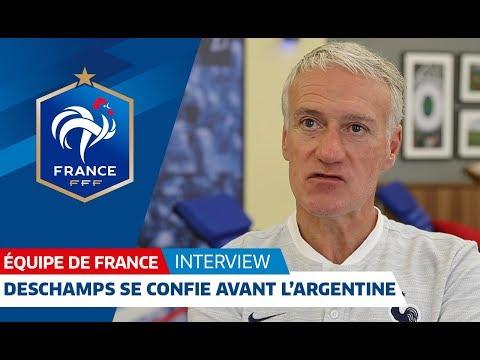 Equipe de France : Didier Deschamps se confie avant l'Argentine I FFF 2018