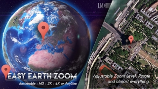Easy Earth Zoom In ( After Effects Project Files ) ★ AE Templates ★ 2017