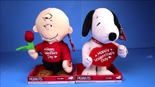 Valentines Day 2016 Animatronic Snoopy Charlie Brown Dolls Figures Peanuts Movie Theme Song