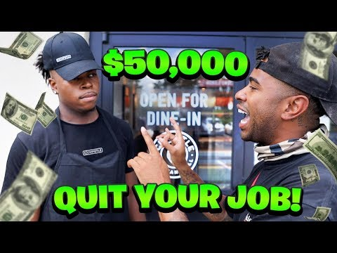 Surprising My Friend With $50,000 TO QUIT HIS JOB!!!! (Cops Showed up)
