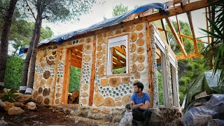 6 Months Building My Cabin Alone in the Woods / Building my dream house