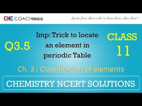 Classification of Elements Q3 5 Chapter 3 CHEMISTRY NCERT Solutions Class 11
