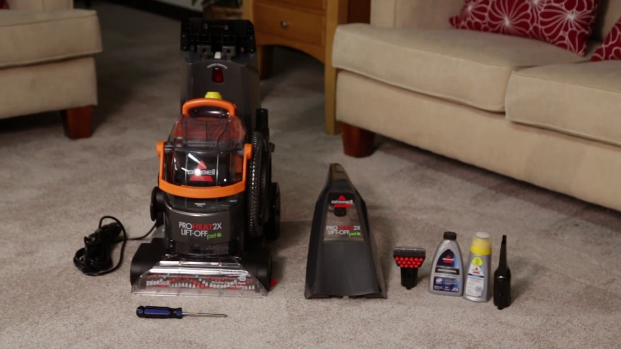 Proheat 2x Lift Off Upright Carpet Cleaner Assembly Youtube