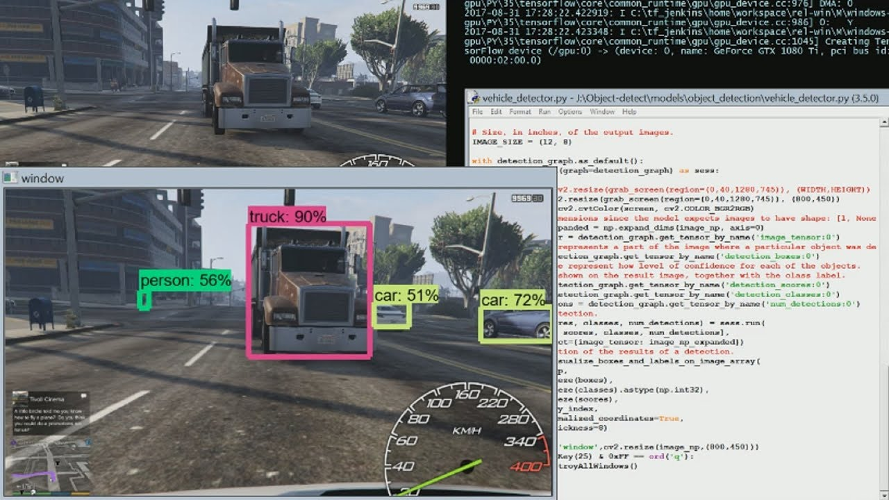 Object detection with Tensorflow - Self Driving Cars p 17