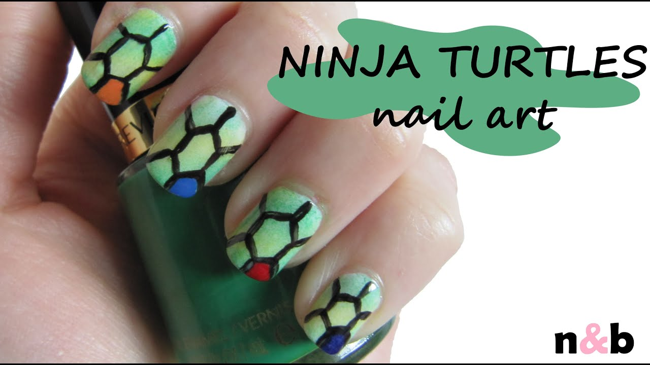 DIY Nail Art Tutorial - Teenage Mutant Ninja Turtles Inspired Design ...