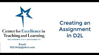Creating an Assignment in D2L