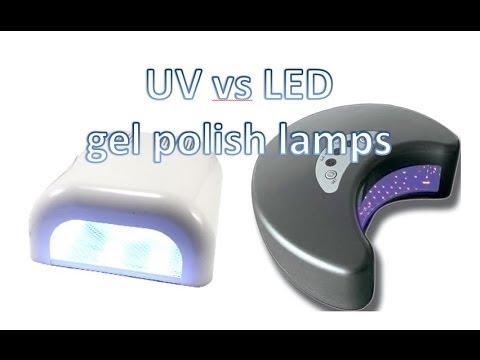 Uv Vs Led Lamps For Gel Shellac Nail Polish Youtube