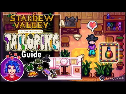 Tailoring Guide | Stardew Valley 1.4 Update | How To Make Custom Clothes | Dye | Sewing Machine