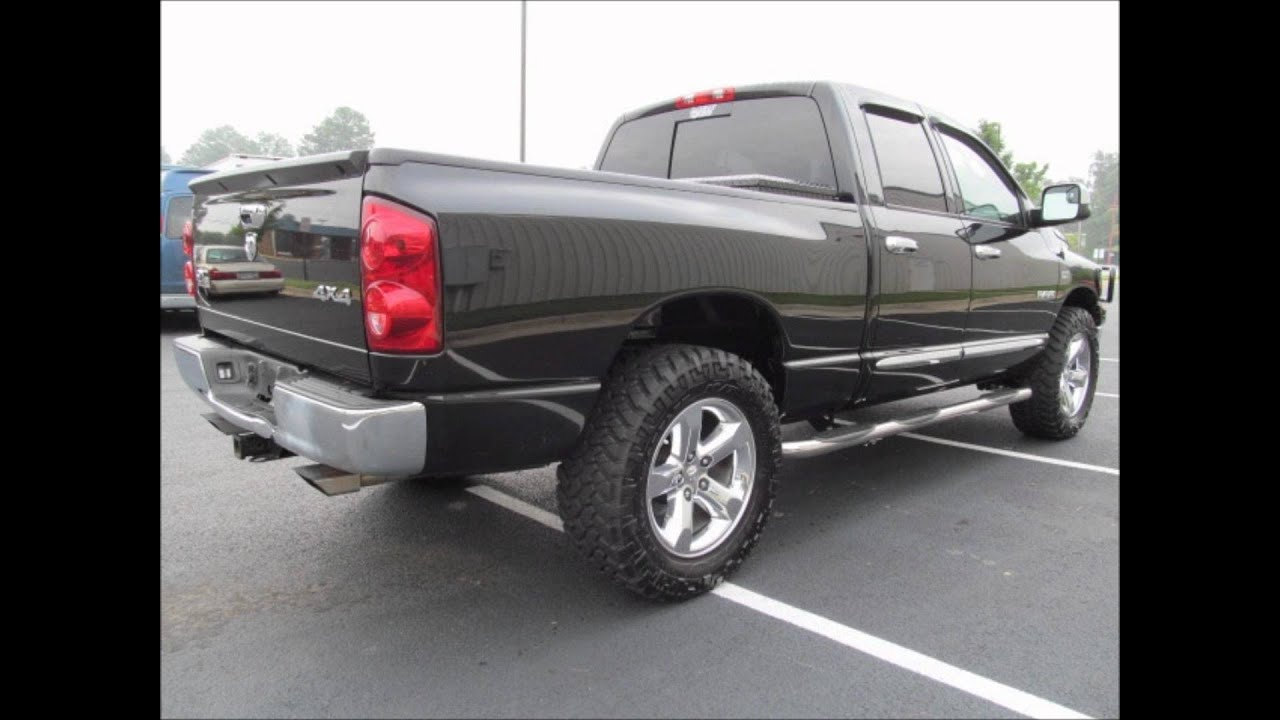 2008 dodge ram 1500 lifted truck for sale youtube. Black Bedroom Furniture Sets. Home Design Ideas