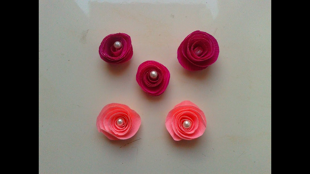 How to make diy crepe paper rose flowers step by step paper craft how to make diy crepe paper rose flowers step by step paper craft tutorials youtube mightylinksfo