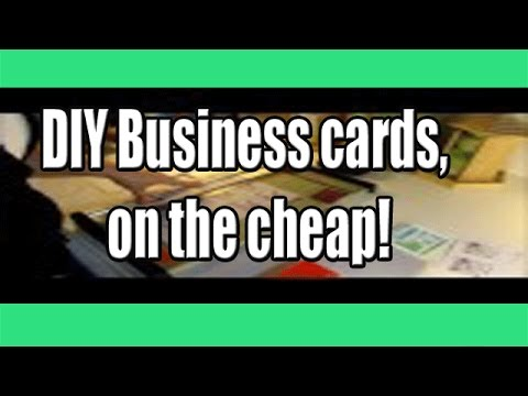 Make It Yourself Diy Business Cards On The