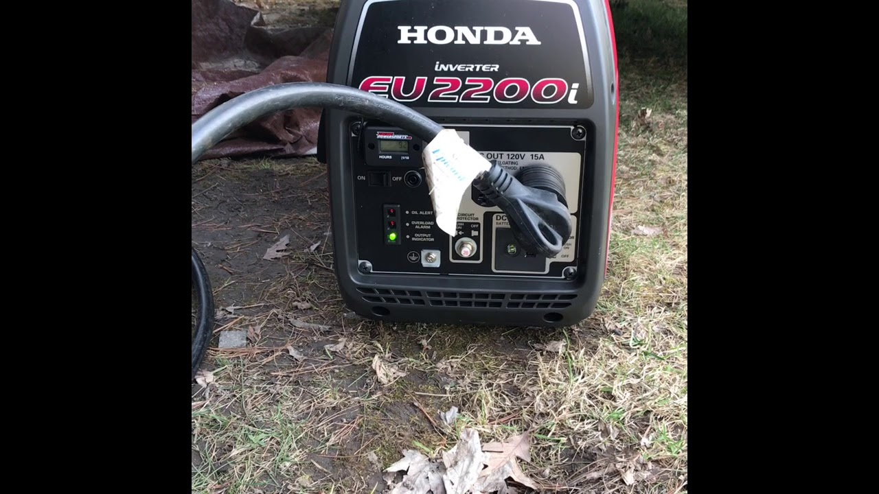Honda EU2200i Gen starting a Coleman Camper 11k BTU Air Conditioner AC, and  more