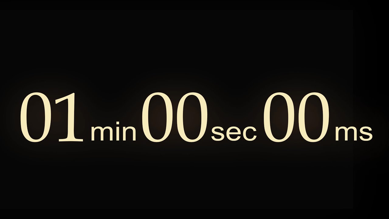 one minute clock