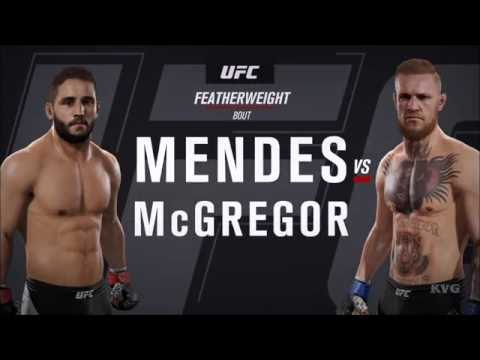 EA Sports UFC 2 - Chad Mendes vs Conor McGregor | Gameplay (HD) [1080p60FPS]