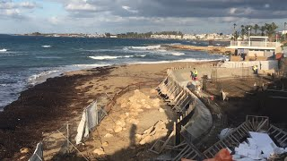 Sodap beach Paphos Cyprus destroyed by modern design