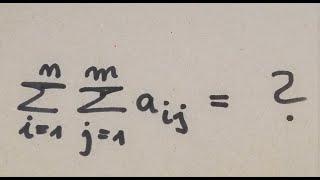 Das Summenzeichen, Summen und Doppelsummen berechnen Mathe, Physik und Statistik by Maphyx
