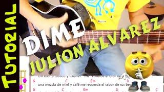 Como tocar DIME de Julion Alvarez en Guitarra Cover