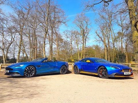 Aston Martin GT8 V8 vs Vanquish Volante V12 - Shmee150 Aston lineup