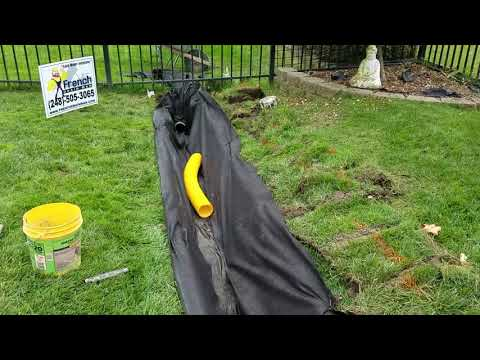 Why Gravel French Drains are Better with Corrugated pipe and Geo-textile Fabric