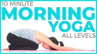 10 minute morning yoga flow | sarahbethyoga.com