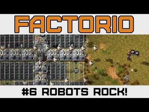 Robots & Biter / Spitter Combat - Let's Play Factorio - Version 0 15