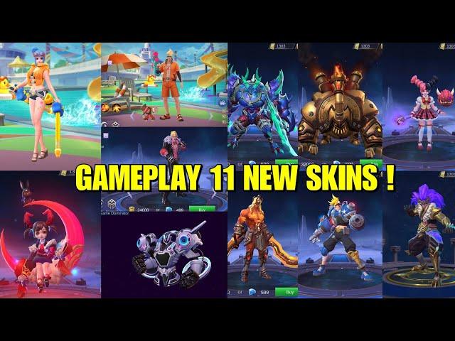 GAMEPLAY 11 NEW SKINS! CHOU STARLIGHT AND URANUS EPIC SKIN😲