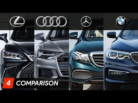 2019 Lexus ES Vs Mercedes E Class Vs Audi A6 Vs BMW 5 Series