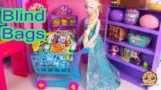 Disney Frozen Queen Elsa Doll Shops for Shopkins Season 3, Minecraft, Fashems Blind Bags Unboxing