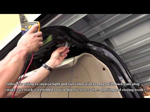 HOW TO INSTALL CAR BACKUP CAMERA | WIRE REAR VIEW CAM TO TAIL LIGHT