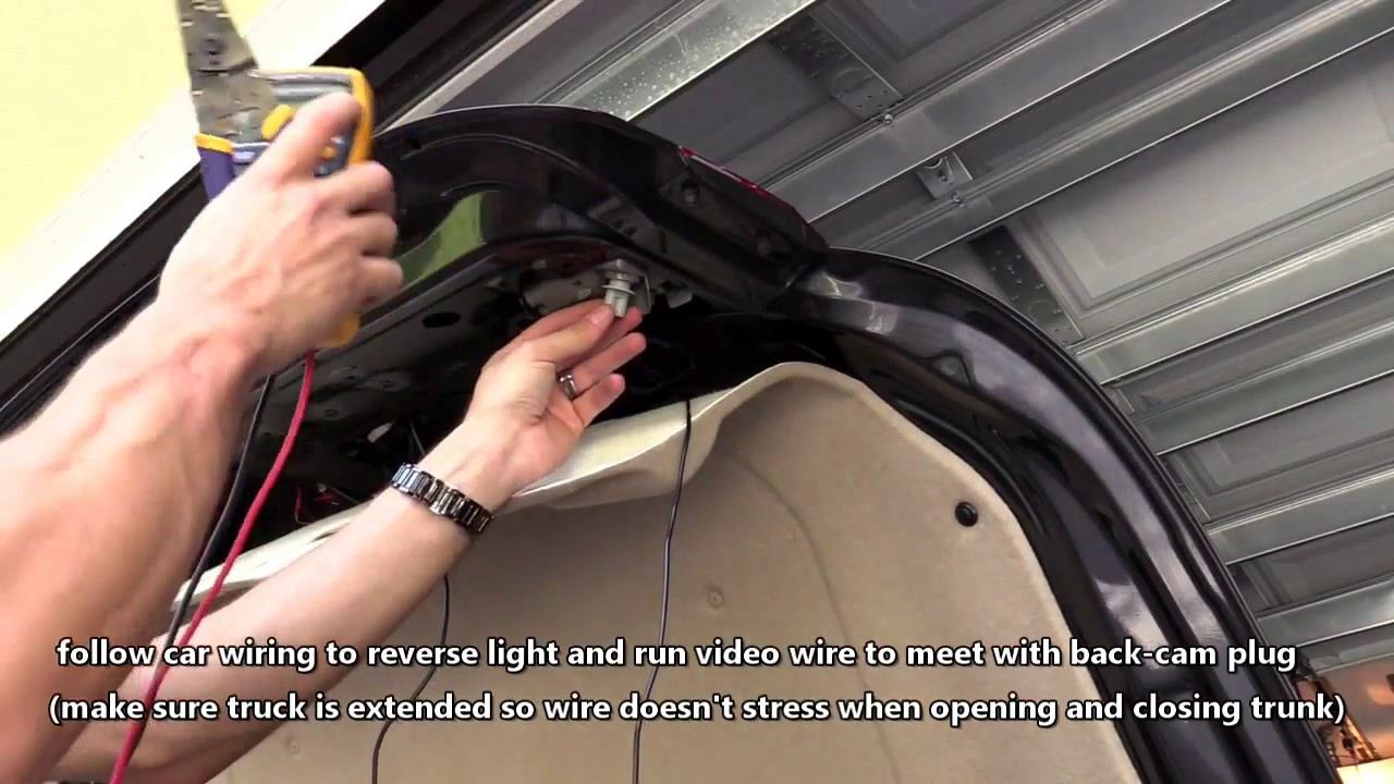 hight resolution of how to install car backup camera wire rear view cam to tail light