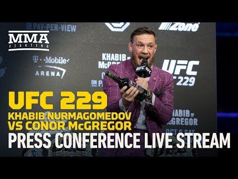 UFC 229 Khabib Nurmagomedov vs. Conor McGregor New York Press Conference Live Stream - MMA Fighting