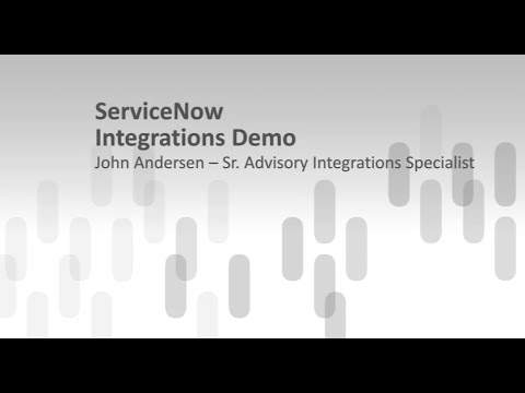 ServiceNow Integration Interfaces Overview