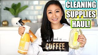 Huge Cleaning Supplies Haul! | Mrs.Meyers, Method, Seventh Generation