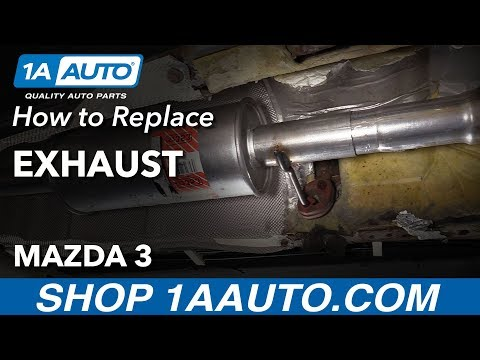 How to Replace Exhaust 03-09 Mazda 3