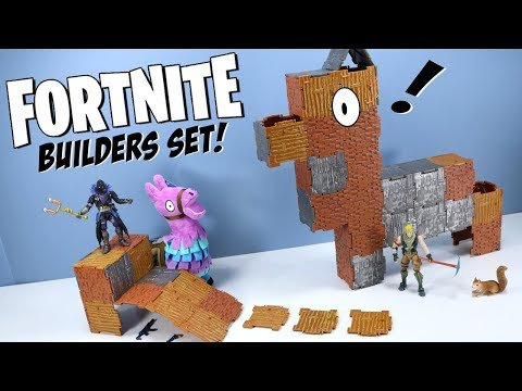Fortnite Toys Action Figures Turbo Builder Set Raven & Jonesy 2018 Jazwares