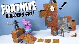 Fortnite Toys Action Figures Turbo Builder Set Raven & Jonesy 2018 Jazwares