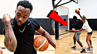 Tough 1v1 Basketball Against Tatted Female Hooper!