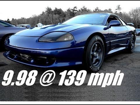 9 Second Dodge Stealth Drag Race, 9.98 @ 139 Mph! - Steve Z