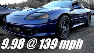 9 Second Dodge Stealth drag race, 9.98 @ 139 mph! - Steve Z