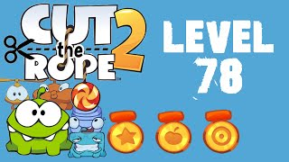 Cut the Rope 2 - Level 78 (3 stars, 77 fruits, 2 stars + beat the timer)