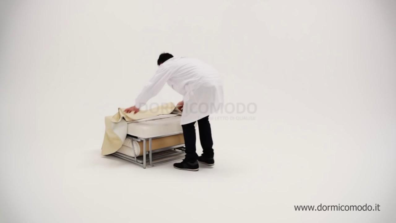 Pouf letto trasformabile in un lettino singolo economico in tessuto o ecopelle prezzo in - Letto singolo economico ...