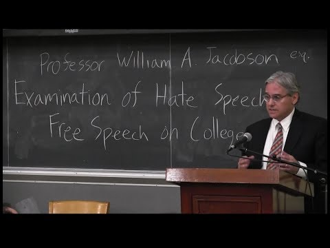"""Hate Speech"" and Free Speech on Campuses"