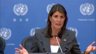 Ambassador Haley Previews U.S. Security Council Presidency during Month of September