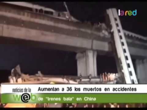 Aumentan a 36 los muertos en accidente de trenes bala en China 480p