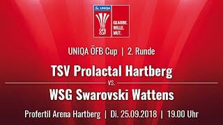 25.09.2018 | 19:00 | TSV Hartberg vs WSG Wattens |UNIQA ÖFB Cup 18/19 |2. Runde