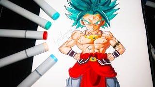 COMO DIBUJAR A KAROLY DIOS AZUL (GOKU ,BROLY) PASO A PASO //How To Draw Karoly Goku   Broly