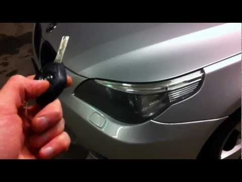 BMW E60 5series LED Light Up Sport Unlock Button How To