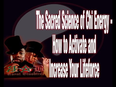 The Sacred Science of Chi Energy - How to Activate and Increase Your Lifeforce : Royalbloodline Live